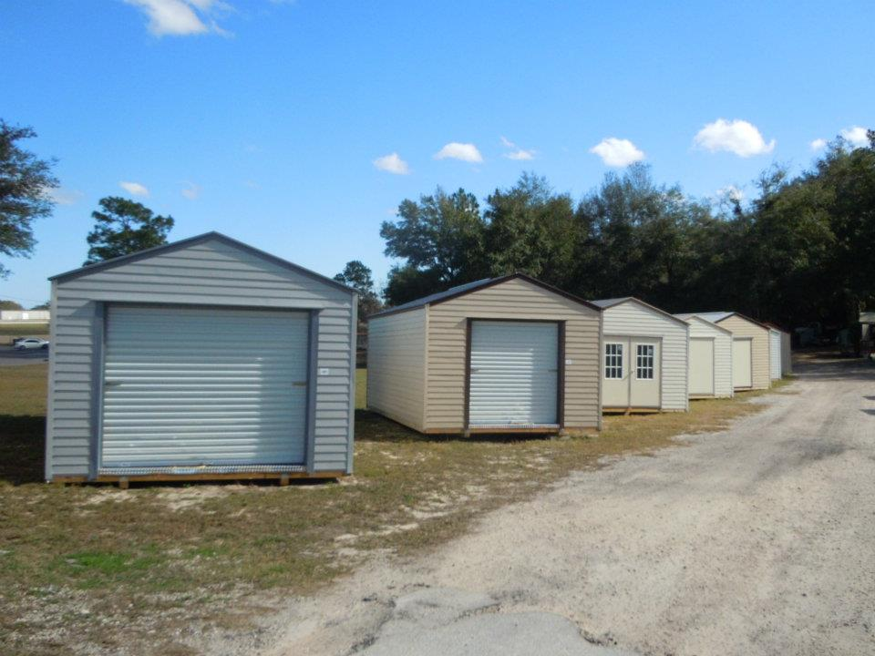 bungalow sheds with optional roll up doors