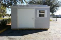 8x12 BC Gray and White Bungalow - 5' Door