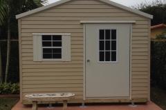 12' wide Beige and Cream Floridian (Bahama Door/Window)