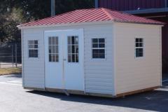 10x14 Vinyl with Advantage Panel Roof - Bahama Doors/Windows