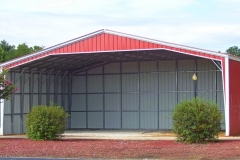 40x30x14 Vertical Roof Sides and Rear Enclosed