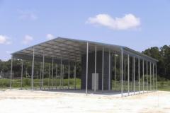 48x41x14 Tripple-Wide Carport - Vertical Roof
