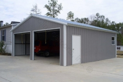 Enclosed Shop - Vertical Roof and Siding