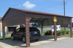 Semi-Enclosed Carport - Vertical Roof