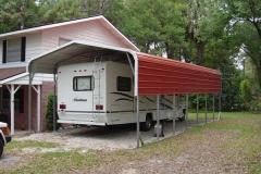 18x36x12 Regular Style RV Carport - 3' Side Panels