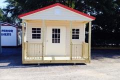 14X20 Vinyl Siding - Porch and Bahama Door/Windows