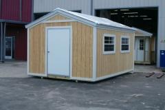 12x16 Rustic Wood & Shingles - Large Bahama Windows