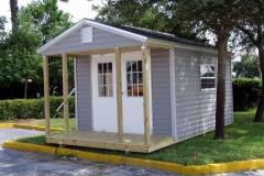 10x16 Vinyl & Shingles - Bahama Double Doors and Porch