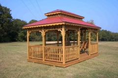 12x16 Rectangle Double Steel Roof - Optional Benches and Swings
