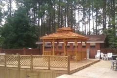 10x14 Rectangle Double Cedar Roof