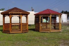Octagon Style - Cedar Roof - Metal Roof