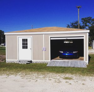 However according to PR Newswire a survey taken by Gladiator GarageWorks found that one in four Americans canu0027t park their car inside of their garage ... & Park Your Vehicle in a Prefab Storage Shed | Superior Sheds